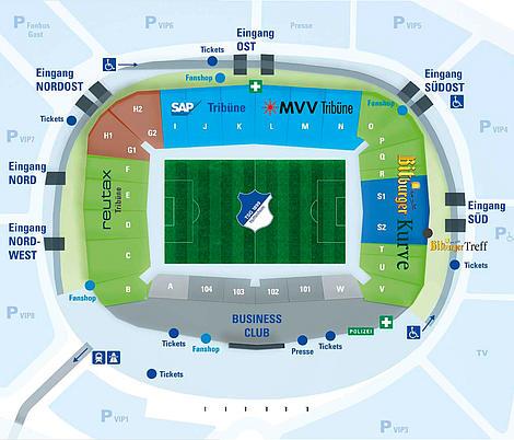 Hoffenheim Stadion Sitzplätze