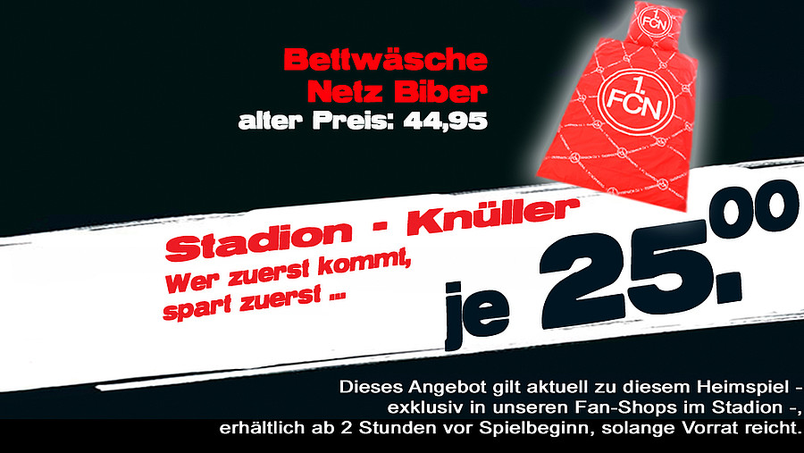 1 Fc Nürnberg Stadionknüller Kuschelig Warme Bettwäsche