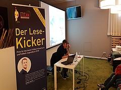 LitCam Kicker-Lesetour 2018 zu Gast im Max-Morlock-Stadion
