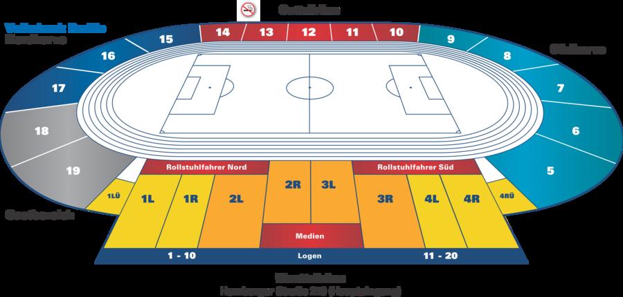 Nürnberg Stadionplan