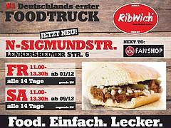 Ab sofort in der Lenkersheimer: Essen vom Ribwich-Truck
