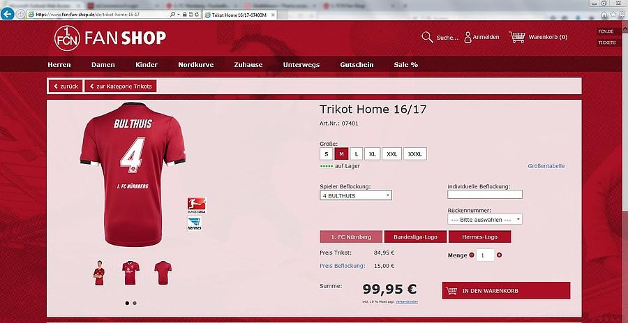 1. FC Nürnberg: Der Online Shop des 1. FCN in neuem Design