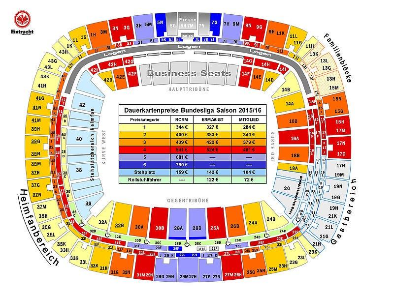 Frankfurt Stadion Plan